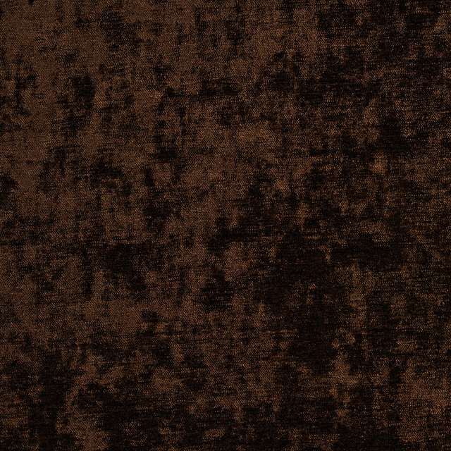 Brown Solid Woven Velvet Upholstery Fabric By The Yard