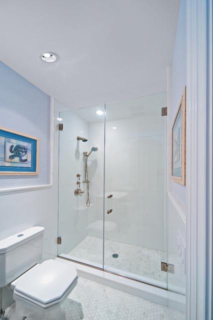 Beach House Beach Style Bathroom New York By New