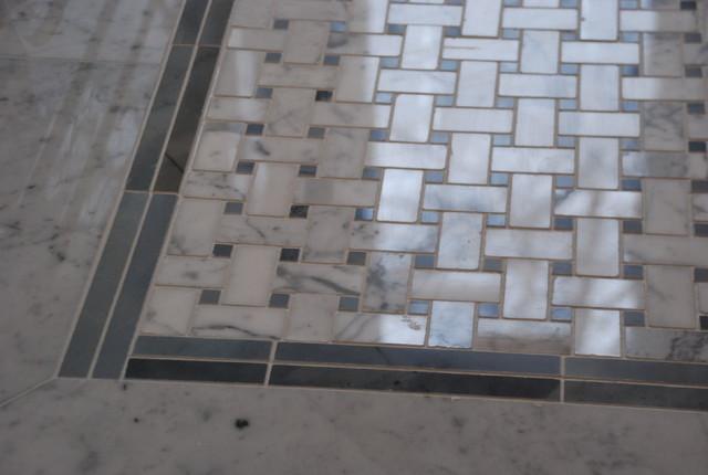 weave stone tile for an elegant bath