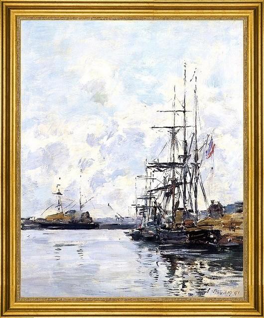 Eugene Louis Boudin 16x20 Framed Canvas Traditional