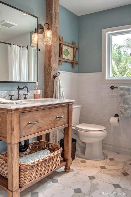 Beachy Casual Bathroom Beach Style Bathroom San