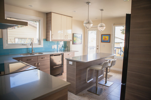 BROKHULT Walnut Ikea Kitchen Contemporary Kitchen Calgary By Final Cut Creations