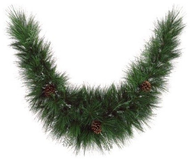Maryland Pine Artificial Christmas Garland With Pine Cones Unlit