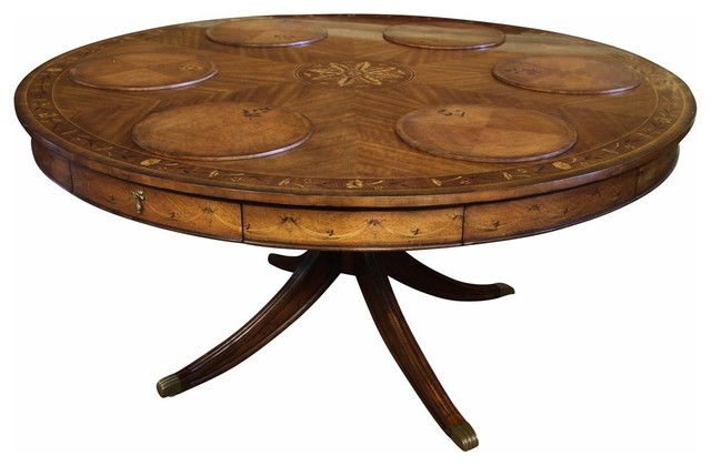 Luxurious Adams Style 60 Inch Round Dining Table With Swag