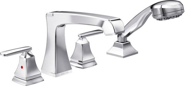 delta ashlyn roman tub with hand shower trim chrome t4764