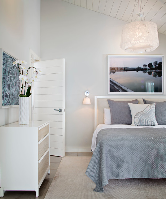 Solana Beach House beach-style-bedroom