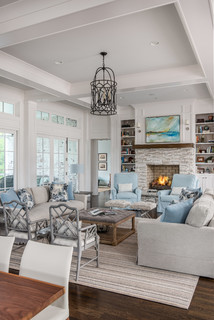 Great Room Farmhouse Living Room Nashville By