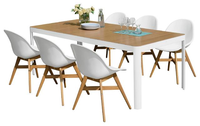 https www houzz com products amazonia charlotte 7 piece rectangular patio dining set prvw vr 118532506