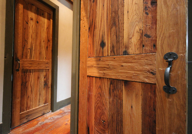 Custom Rustic Doors: Reclaimed Wood Interior Doors In Oak