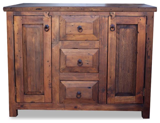 "3-Drawer Reclaimed Wood Vanity, 36"" - Farmhouse - Bathroom ... on {keyword}"