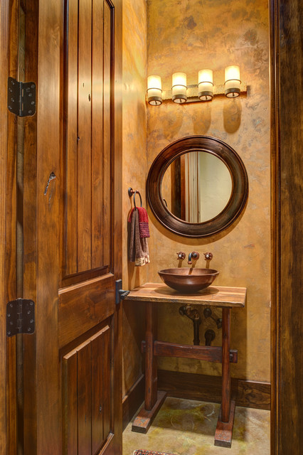 Ranch Style By The Lake Rustic Bathroom Houston By
