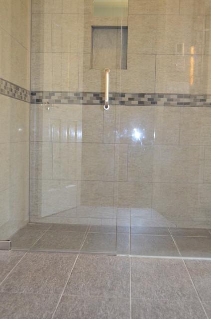 Zero Entry Shower Contemporary Bathroom Cincinnati