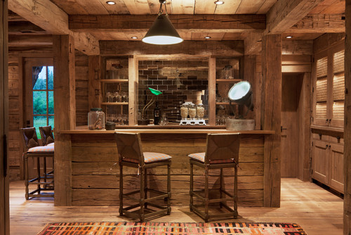 Beautiful Photo By North Fork Builders Of Montana, Inc. U2013 Search Rustic Home Bar  Design Ideas