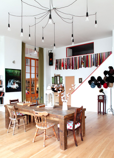 Eclectic Stoke Newington Apartment eclectic-dining-room