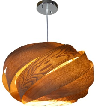 Wooden Ribbon Pendant Lamp   Contemporary   Pendant Lighting   by     Wooden Ribbon Pendant Lamp