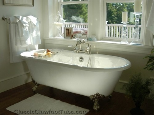 Gorgeous Bathroom With A Double Ended Clawfoot Tub