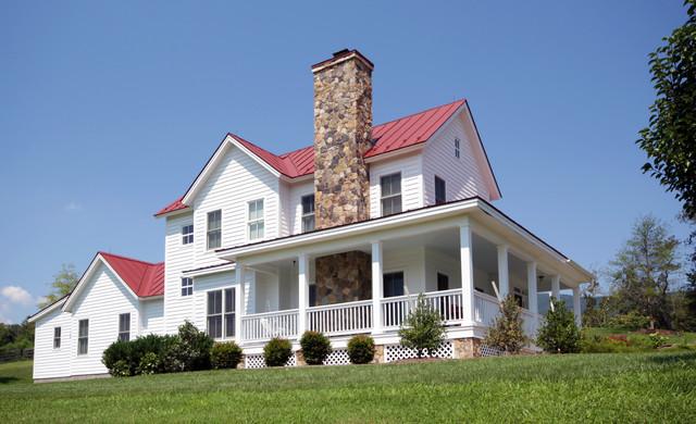 Afton Virginia Farmhouse Farmhouse Exterior Richmond By Smith Amp Robertson Inc