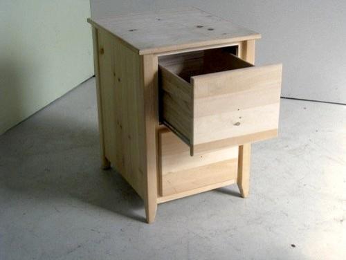 Unfinished 2 Drawer Wooden File Cabinet