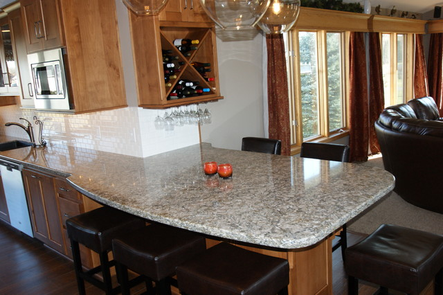 Silestone Pacifica Full Slab Traditional Kitchen