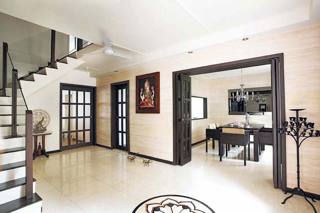 Singapore Maisonette Hdb Apartment Asian Entrance