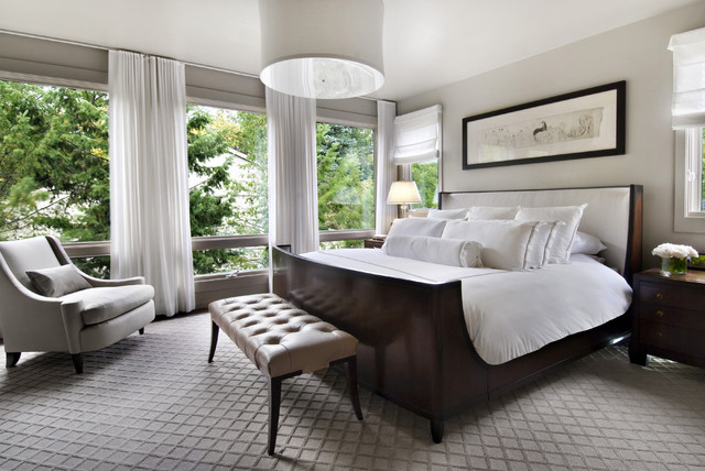 baldwin street master bedroom - contemporary - bedroom - detroit