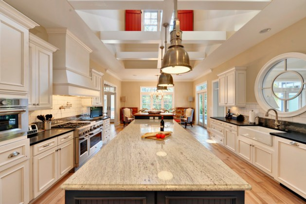 Your Guide to 15 Popular Kitchen Countertop Materials Beach Style Kitchen by Echelon Custom Homes