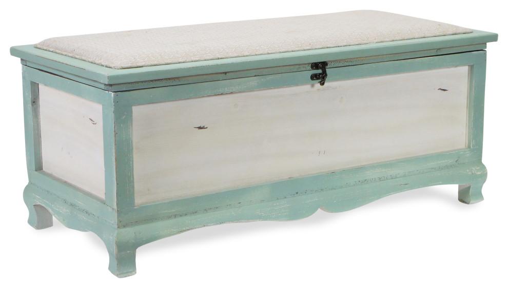 pia chic wooden storage bench