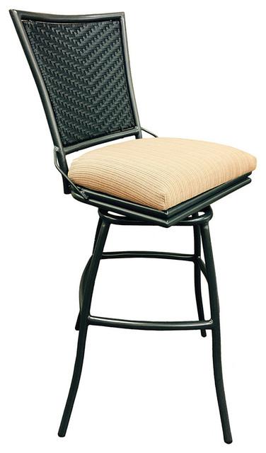 erin 35inch extra tall armless terracota outdoor swivel bar stool terracota co