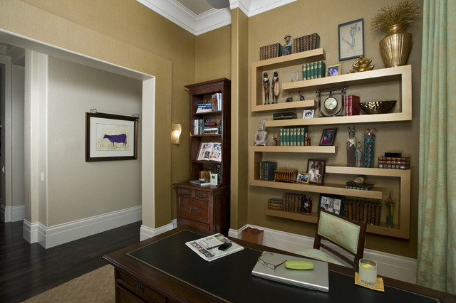 Hollywood Regency Home Office/Study transitional-home-office