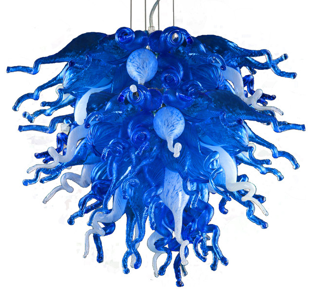 Large Blue Love Chandelier Contemporary Chandeliers