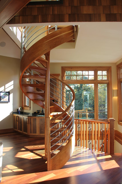 Lakeside Home Transitional Staircase Boston By O