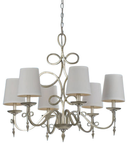 Af Lighting 8431 6h Candice Olson Rhythm 6 Light Up Chandelier Traditional Chandeliers