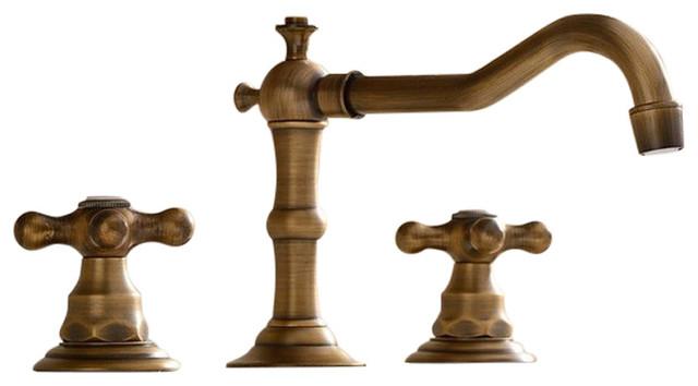san marco antique bronze deck mounted bathroom faucet