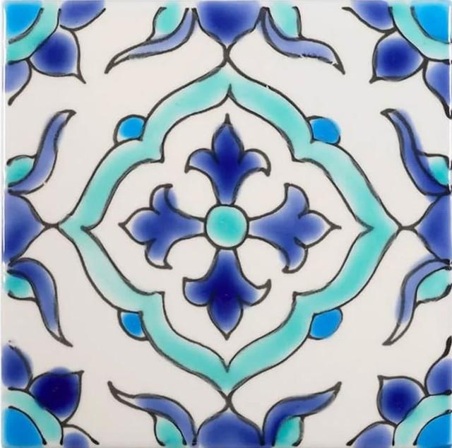 4 x4 granada tile set of 180 blue and turquoise mediterranean pool tiles