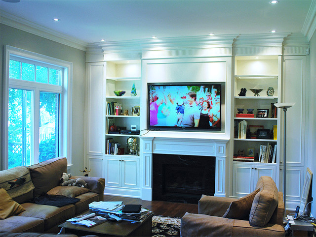 Built In Wall Unit Traditional Living Room Toronto