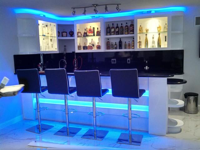 LED Strip Installations Modern Living Room Los