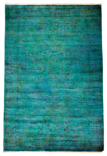 Shop Houzz Solo Rugs Modern Wool Area Rug Teal 6x9
