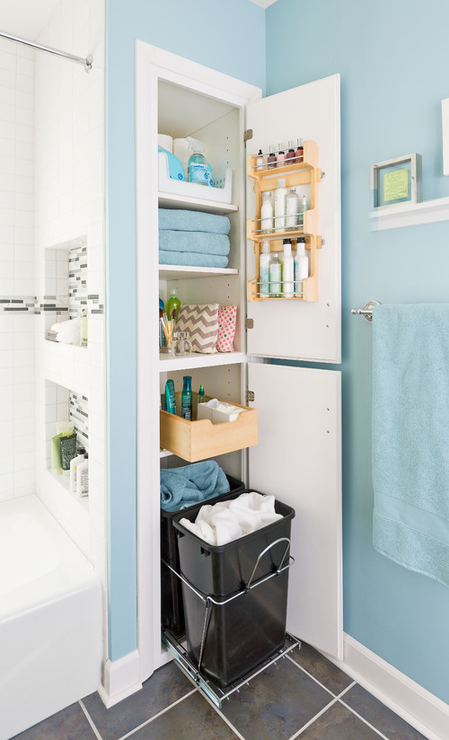 Storage-Packed Small Bathroom Makeover