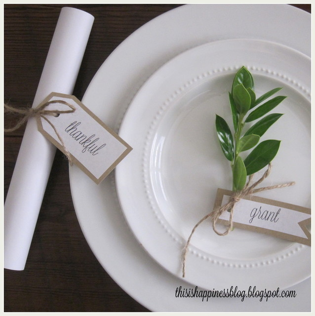 Thanksgiving Tablescape dining-room