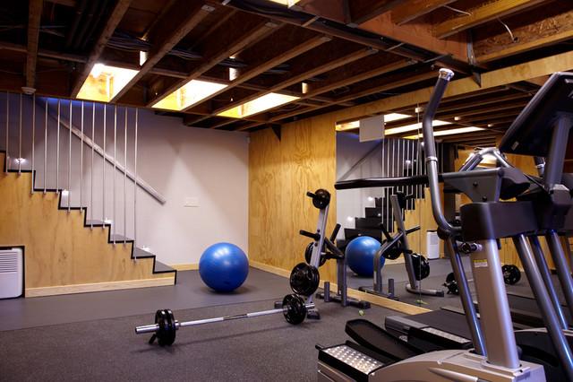 Port Washington Residence Modern Home Gym New York