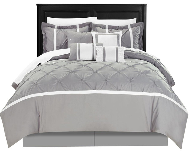 vermont gray king 12 piece comforter bed in a bag set with sheet set