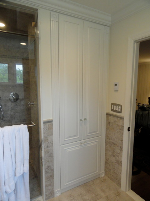 linen closets/bathroom cabinets - traditional - bathroom - new