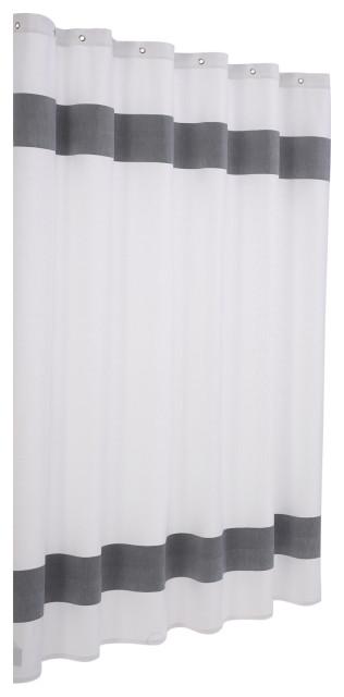 unique turkish cotton shower curtain anthracite
