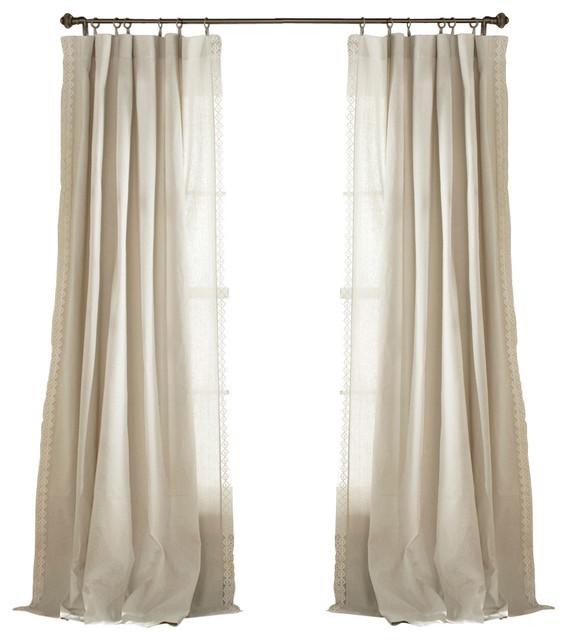 Lush Decor Anya Window Curtains Gray Set Of 2