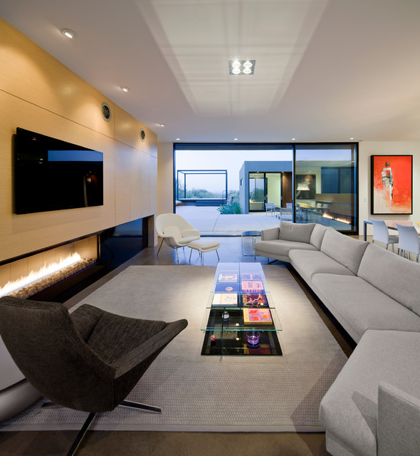 Levin Residence modern-living-room