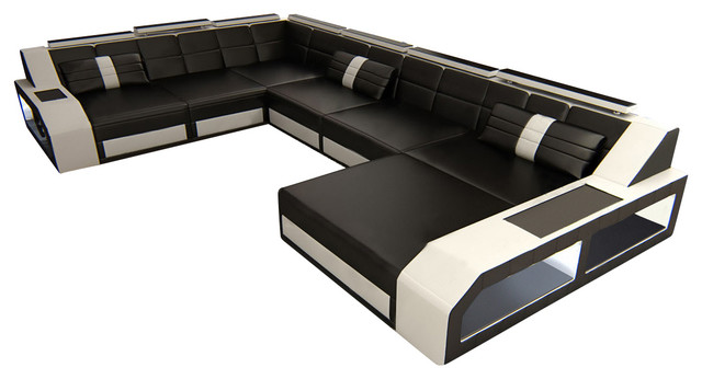 Captivating Sectional Leather Sofa Houston Xl Modern Sofas By