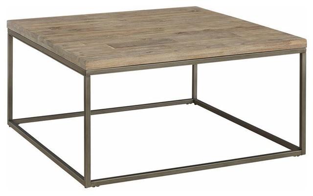 alana square acacia wood top coffee table