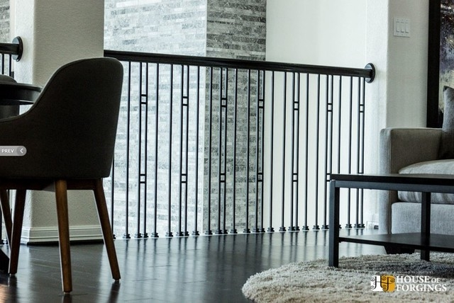 House Of Forgings Iron Balusters Contemporary Houston By   House Of Forgings Balusters   Wentworth   Hand Forged   Custom   Versatile Series   Marquise