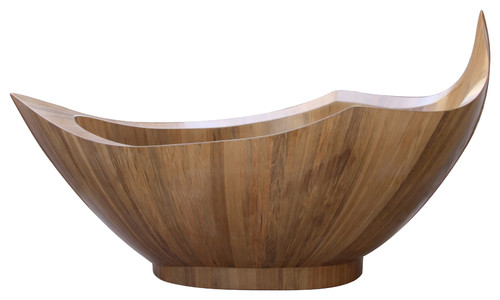 Modern Soaking Walk-in Handcrafted Wood Bathtub