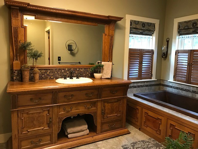 Master Bath with Antique Charm traditional-bathroom